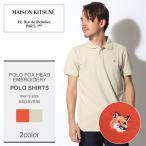 MAISON KITSUNE メゾンキツネ POLO FOX HEAD EMBROIDERY メンズ 半袖 ポロシャツ 父の日