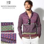 スコッチ アンド ソーダ SCOTCH&SODA インディア インスパイア シャツ レッド メンズ