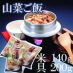 山菜釜飯 米 140g & 具 200g セット まぜごはん 混ぜご飯 釜めし 和食 和風 家庭用 業務用 [常温商品]