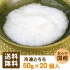 業務用 ★送料無料★冷凍国産とろろ 50g×20個入  調味料 鍋 そば 天ぷら 冷凍食品  セット商品  RCP