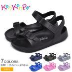 サンダル キッズ ジュニア 子供 ベルトサンダル KenKenPa KP-035 ブラック 黒 ネイビー シューズ スポーツ レジャー 靴