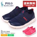(セール) ポロ ラルフローレン スニーカー キッズ ベビー ジュニア 子供 BARNES SLIP ON POLO RALPH LAUREN RF1028 RF1029 ネイビー 靴