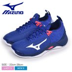 ミズノ バレーボールシューズ メンズ レディース ウェーブモーメンタム MIZUNO V1GA191220 青 ブルー 白 ホワイト ピンク 靴