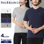 (メール便可)POLO RALPH LAUREN ポロ ラルフローレン Tシャツ ワンポイント Vネック 半袖Tシャツ メンズ レディース