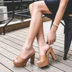 ミュール サンダル レディース ハイヒール 厚底 疲れにくい 厚底サンダル 痛くない 歩きやすい 滑り止め 履きやすい オシャレ 美脚 夏 新作 送料無料