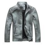 ライダースジャケット メンズ フェイクレザージャケット ブルゾン ジャケット PU革 バイクジャケット アウター 裏起毛 裏ボア 防寒 暖かい 秋物 冬物 新作