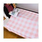 タオルケット チェック柄 プリント コットン100%パイル プリントの発色がきれいな、カジュアルなデザインのタオルケットです。 214DK92(シン