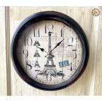 掛け時計 新生活 ナチュラル インテリア カフェ雑貨 おしゃれ/スチールリムクロック47cm(D)Eiffel