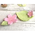 お花見エンジョイノーティ 桜の花と葉