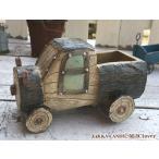 プランター ガーデン雑貨 ガーデニング おしゃれ かわいい レトロ カフェ風 乗り物  / 木製風 フラワーポット トラック