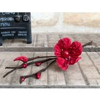 お正月飾り 正月 しめ縄作り ハンドイメイド  フェイクグリーン インテリア ナチュラル 和風 / ラフィア調 飾り梅 RD