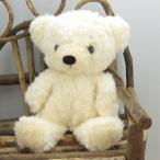 日本製くまのぬいぐるみ モコパルッチ(mocopalcchi) クマのフカフカ ぬいぐるみ Sサイズ クリーム 童心