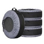 Yahoo!バラエティ雑貨GSタイヤカバー タイヤ カバー タイヤ収納 タイヤトート タイヤバッグ ホイール 保管 保護 4枚 セット 保護パッド1枚付き