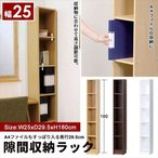 本棚 隙間収納 25cm 幅25 奥行29.5 高さ180 すきま収納