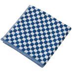 楠橋紋織 ハンカチタオル ネイビー 約25cm 25cm わた音 しゅす織り 1-61157-86-KON