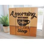 限定 CARNAC カルナック・ヴィンテージサインボード  A morning コーヒー COFFEE (アメリカン フレンチ ナチュラル レトロ調 カントリー インテリア 雑貨