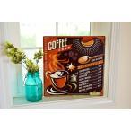 レトロブリキTINサイン Antique Emboss Plate  COFFEE コーヒー 」 珈琲【アメリカン・ナチュラルカントリーインテリア雑貨】TINサイン・ブリキ製看板