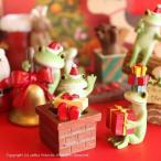 カエル 置物 クリスマス 煙突