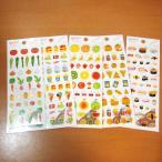 ゆるいタッチのイラスト&マスキング素材のシール(食べもの)5点セット 11113-7