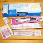 プリンセス 可愛い女の子の文具セット(ブルー)10点セット 13115s-b マグネット式筆箱