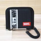 マーベル(MARVEL) コイルループ付き 二つ折り財布(ロゴ/ブラック)53335 カード6枚収納 お札入れ