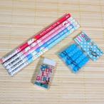 可愛いあにまる 鉛筆と消しゴムのセット (WHITE ANIMAL ZOO)84452s-7/鉛筆キャップ 赤鉛筆