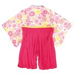 袴 ロンパース 赤ちゃん はかま 和装 カバーオール ベビー 女の子 フォーマル ピンク 60cm
