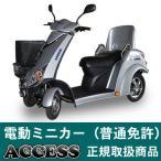 電動ミニカー 電動バイク シルドSX4W(シルバー) アクセス