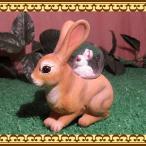 動物の置物 アニマルスノードーム ウサギの親子 うさぎのフィギア
