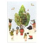 ロジャーラボード クリスマス アドベントカレンダー (雪の中のツリーと動物たち) カード