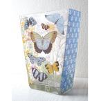 ショッピングフリンジ フリンジ 花瓶 ガラス製 (蝶×ブルー) おしゃれなインテリア フラワーベース  ・定形外郵便物不可