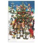 ロジャーラボード クリスマスカード Sサイズ (クリスマスツリーとネコの音楽会) グリーティングカード