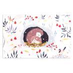 ロジャーラボード クリスマスカード Sサイズ (ハリネズミの親子) グリーティングカード