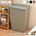 ショッピングゴミ箱 ゴミ箱 クード  kcud シンプル ワイド 横型 おしゃれ キッチン 45リットル ゴミ袋対応 キャスター