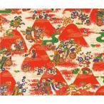 ササガワ(タカ印) 包装用紙 和紙千代紙 わらべ 紅遠山 平判 10枚×1セット