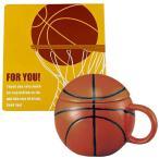 【送料込】バスケ色紙&マグカップギフト【W】 バスケ部 バスケットボール 寄せ書き 色紙 バスケ 卒業 部活 引退 面白い プレゼント
