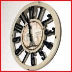 ショッピング雑貨 時計 壁掛け おしゃれ アメリカン雑貨 アンティーク雑貨 オールドルック ウォールクロック エッフェルB