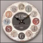 時計 壁掛ケ アナログ アンティーク アメリカン雑貨 壁掛ケ時計 オールドルック ウォールクロック OLD TOWN