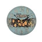 オールドルック テーブルクロック レモン 置き時計 おしゃれ アナログ アンティーク アメリカ 雑貨 アメリカン雑貨