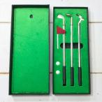 ゴルフ セット ボールペン ギフト プレゼント 男性 3色ボールペン