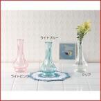 花瓶 ガラス 一輪挿し アンティーク レトロ おしゃれ ロストミリー スリムパンプキンガラスベース  ライトピンク