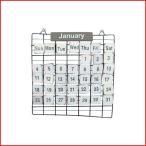 カレンダー 万年カレンダー 壁掛け ワイヤー 木 おしゃれ オブジェ アンティーク インテリア雑貨 プレゼント ギフト ホワイト  PRIMITIVE CALENDAR S