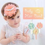 赤ちゃんヘアバンド  ベビー 赤ちゃん ヘアバンド お花 かわいい 髪飾り ヘアアクセサリー イエロー ホワイト グリーン ピンク