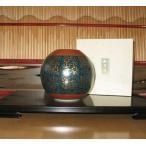 【SALE】 九谷焼 6号花瓶 青粒鉄仙