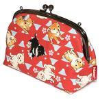 Petlovers HappyFabric 5.5寸 がま口 ポーチ  柴犬 Shiba Dog エンジ / GL-120R