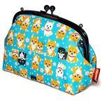 Petlovers HappyFabric 5.5寸 がま口 ポーチ  柴犬 Shiba Dog 空色 / GL-118B
