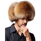 防寒 ロシア帽 フェイクファー フライトキャップ 飛行帽 トラッパーハット 耳あて付き 3カラー(ブラウン)