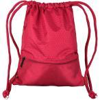 ジムサック ナップサック スポーツバッグ 巾着袋 リュック ナイロン 撥水 軽量 耐久性 ポケット付き 男女兼用(レッド, Large)