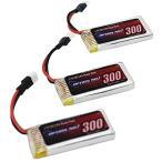 OPTION No.1 小型ヘリ用バッテリー LiPo3.7V 300mAh 3本セット[NO-HLP300-3]
