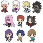 Fate/stay night UBW vol.1 ぺたん娘トレーディングラバーストラップ BOX商品 1BOX = 10個入り、全10種類